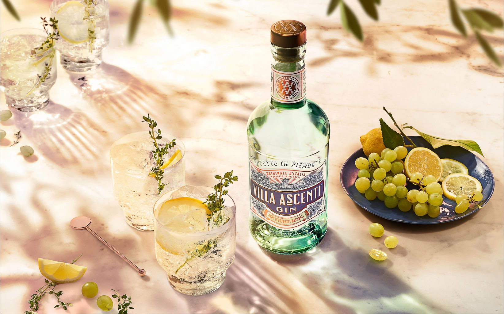 Villa Ascenti and Tonic with Lemon LANDSCAPE | Villa Ascenti Gin